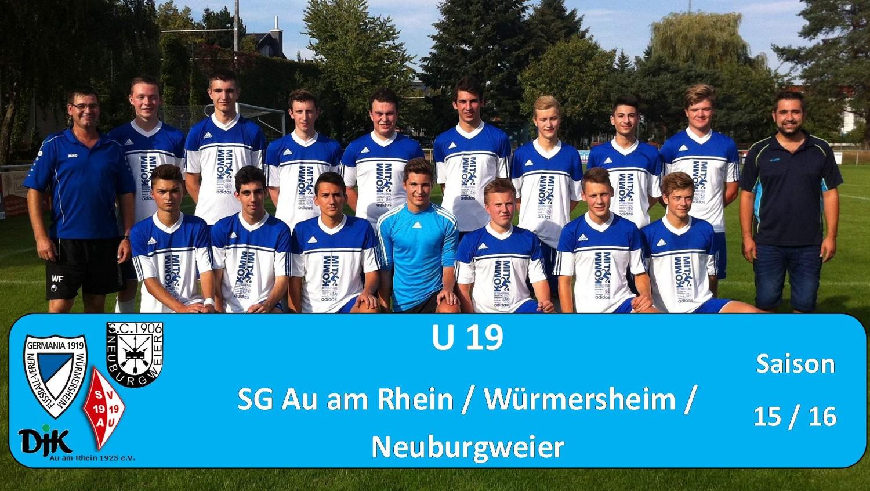 U19 - SG Au am Rhein / Würmersheim/ Neuburgweier Saison 2015/2016
